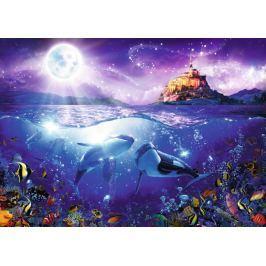 RAVENSBURGER Puzzle Velryby při úplňku 1000 dílků