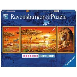 RAVENSBURGER Puzzle Triptych: Krásy Afriky 1000 dílků