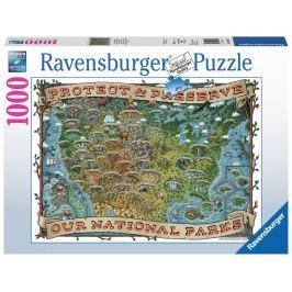 RAVENSBURGER Puzzle Americké národní parky 1000 dílků