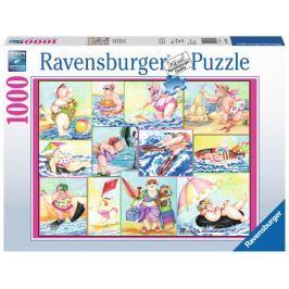 RAVENSBURGER Puzzle Koupající se krásky 1000 dílků