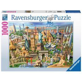 RAVENSBURGER Puzzle Světové pamětihodnosti 1000 dílků