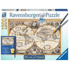 RAVENSBURGER Puzzle Touch of Gold Antická mapa světa 1200 dílků
