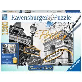 RAVENSBURGER Puzzle Touch of Gold Zlatá Paříž 1200 dílků