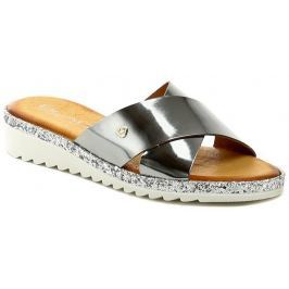 Black 272193 stříbrné dámské letní pantofle, 41