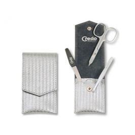 Credo Solingen Luxusní 3 dílná manikúra ve sříbrném pouzdře Carbon 3