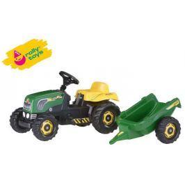 ROLLY TOYS RollyToys Šlapací traktor Rolly Kid s vlečkou - zelený
