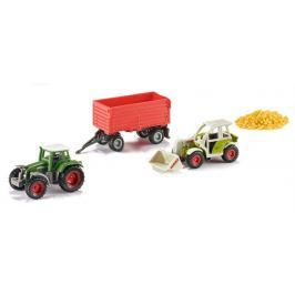 SIKU 6304 Sada: Traktory s vlečkou a nákladem