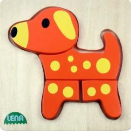 LENA - Dřevěné puzzle - pes