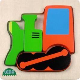 LENA - Dřevěné puzzle - lokomotiva