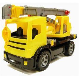 Lena Autojeřáb plast 70cm 2-osý žlutý v krabici