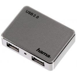 Hama USB 2.0 Hub 1:4, antracit/chrom, napájený