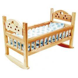 Dřevěné hračky - Postýlka pro panenky velká
