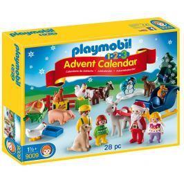 PLAYMOBIL 9009 Adventní kalendář Vánoce na statku (1.2.3)