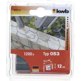 Sponky 1200 ks 053/C12 mm SB kwb