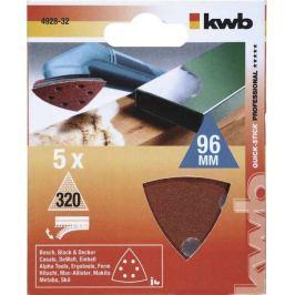 Brusný papír k delta bruskám K320 SB kwb