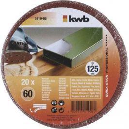 Brusný disk k excentrickým bruskám PROFI-PACK děrovaný125 K 60 kwb