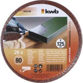 Brusný disk k excentrickým bruskám PROFI-PACK děrovaný125 K 80 kwb