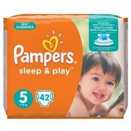 PROCTER GAMBLE Plenky Pampers Sleep & play 5 junior, 42 ks