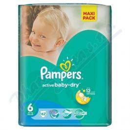 PROCTER GAMBLE PAMPERS Active Baby VPP 6 Extra Large 42ks