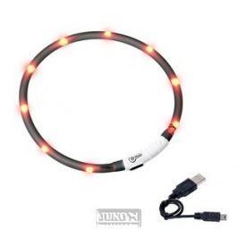 Svítící LED obojek 75cm-ČERNÝ-dobíjecí-64961