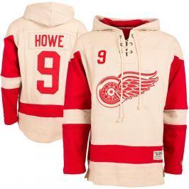 Old Time Hockey Pánská mikina s kapucí  Vintage Player Lacer Detroit Red Wings Gordie Howe 9, S