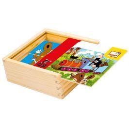 BINO Puzzle  13716 Krtek 4x4 - Dřevěná skládanka pro děti