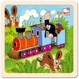BINO Puzzle  13724 Krtek a mašinka, 20 dílků - Dřevěné puzzle pro děti