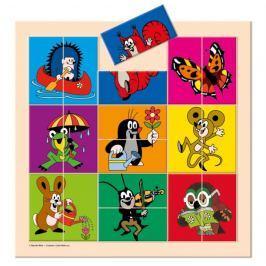 BINO 13735 Krtek a přátelé - Dřevěné puzzle - postavičky