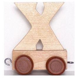 BINO Vagónek X - hnědá kolečka
