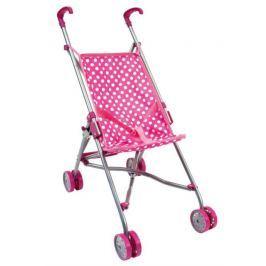 BINO 82913 Kočárek pro panenky růžový - golfový