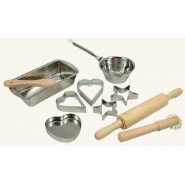 DeLock Dřevěné hračky - dětské nádobíčko - Sada na pečení, 11 ks