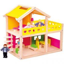 BINO poškozený obal:  83553 Dřevěný domeček pro panenky