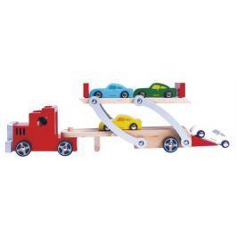 BINO 84075 Tahač s návěsem pro přepravu aut