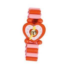 BINO Dřevěné hodinky: Srdíčko