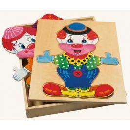BINO Šatní skříň  88001 Velký klaun Wendy - Dřevěná oblékací skládačka
