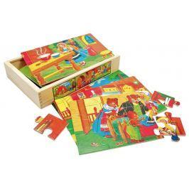 BINO Puzzle  88013 Pohádky, 6x12 dílků - Dřevěné puzzle pro děti