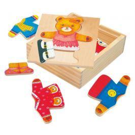 BINO Šatní skříň  88048 Medvědice Berta - Dřevěná oblékací skládačka