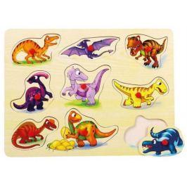 BINO Dřevěná vkládačka - Vkládačka Dinosauři,