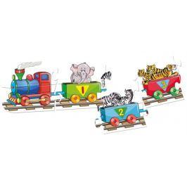 BINO Obrysové puzzle Vlak s čísly