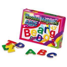 Dřevěné dekorace - Dřevěná magnetická písmena