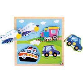 Dřevěná hračka - Puzzle Dopravní vozidla