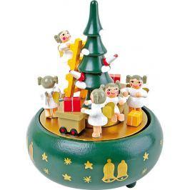 Dřevěná hrací skříňka - Vánoční stromeček