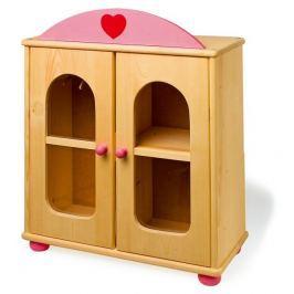 Velká dřevěná skříň pro panenky