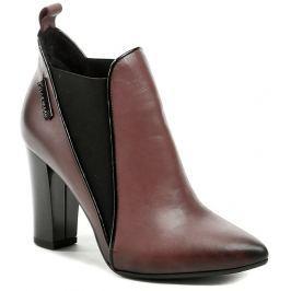 Hilby 1057 vínová dámská kotníčková obuv, 40