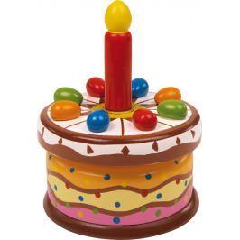 Dřevěné hračky - Hrací skříňka - Narozeninoý dortík