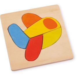 Dřevěné hračky -  Vkládací puzzle - Letadlo