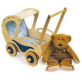Dřevěné hračky pro holky - Kočárek pro panenky Dolly