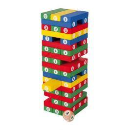 Dřevěné hry - Dřevěná barevná hra Jenga