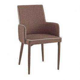 Tempo Kondela Židle, světlehnědá s bílým lemem, SARITA