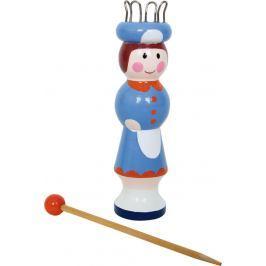 Dřevěná pletací panenka Lisa